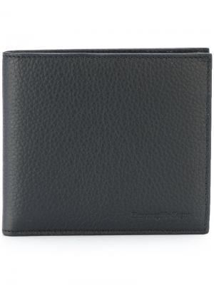 Классический бумажник Ermenegildo Zegna. Цвет: синий