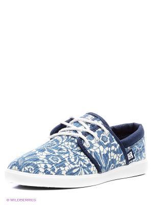 Кеды HAVEN TX SE J SHOE DNM DC Shoes. Цвет: синий, молочный