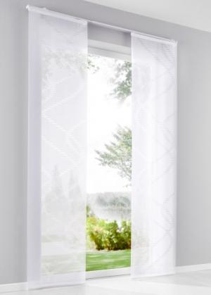 Японская штора Гелиос (1 шт.), Шина с лентой велкро (кремовый) bonprix. Цвет: кремовый