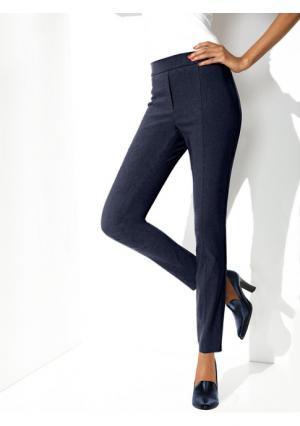 Моделирующие брюки-стрейч Ashley Brooke. Цвет: белый, бордовый, киви, светло-коричневый, светлый серо-коричневый, серый, темно-синий, черный
