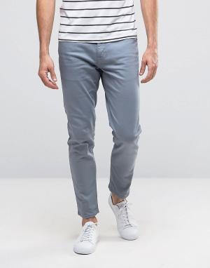 ASOS Светло-голубые джинсы скинни. Цвет: синий