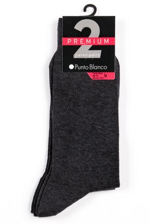 Носки 2 пары Punto Blanco. Цвет: серый