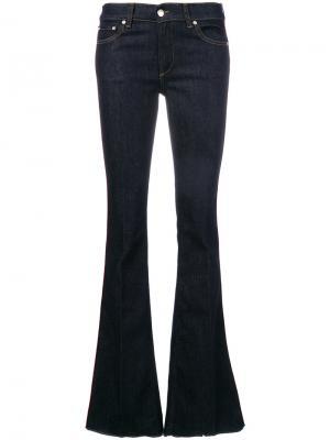 Расклешенные джинсы с лампасами Red Valentino. Цвет: синий