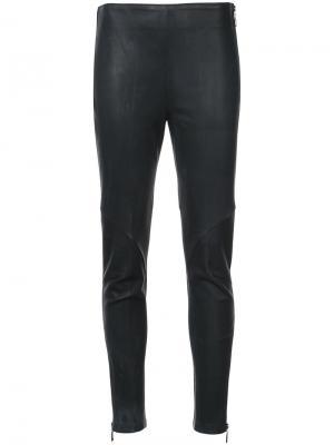 Эластичные брюки кроя слим Osklen. Цвет: чёрный