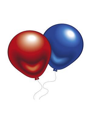 10 шариков (разноцв. металлик) Everts. Цвет: красный