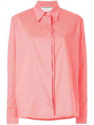 Рубашка в горох N Duo. Цвет: розовый и фиолетовый