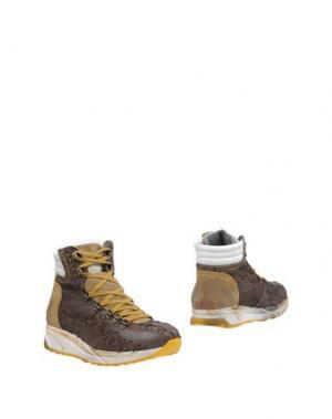 Полусапоги и высокие ботинки ENRICO FANTINI. Цвет: темно-коричневый