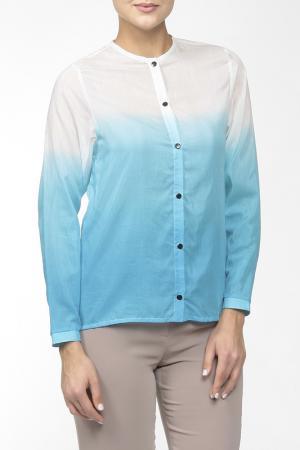 Блузка WOLF EMPIRE. Цвет: голубой