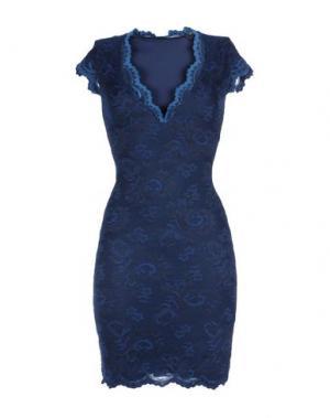 Короткое платье BALENSI. Цвет: темно-синий
