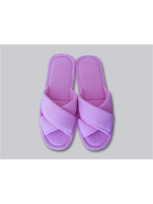 Тапочки женские с открытым носком Dream time. Цвет: розовый