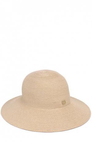 Шляпа с брошью Eric Javits. Цвет: кремовый