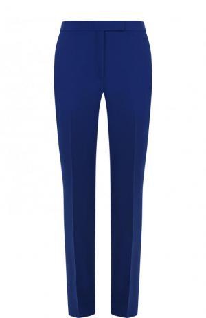 Однотонные брюки прямого кроя Elie Saab. Цвет: синий
