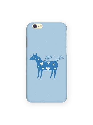 Чехол для IPhone 6 Крылатая лошадка на голубом Mitya Veselkov. Цвет: голубой, белый