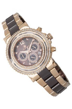 Quartz watch Burgmeister. Цвет: rose gold and brown