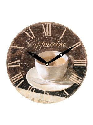 Часы настенные Mitya Veselkov. Цвет: коричневый, белый, черный