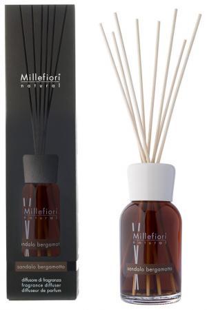 Диффузор Сандал и бергамот millefiori milano. Цвет: коричневый