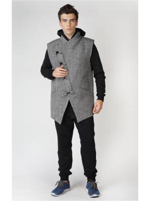 Пальто-жилет DuckyStyle. Цвет: серый, белый, черный