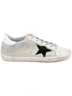 Кроссовки Super Star  свободного стиля Golden Goose Deluxe Brand. Цвет: белый