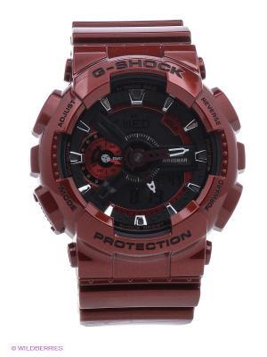 Часы G-Shock GA-110NM-4A CASIO. Цвет: темно-красный