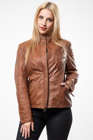 Куртка Cruse. Цвет: коричневый
