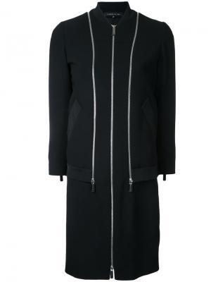 Приталенное платье с рукавами три четверти Barbara Bui. Цвет: чёрный