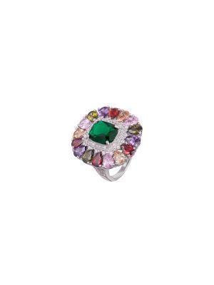 Кольцо Мастер Клио. Цвет: белый, зеленый, фиолетовый, красный, розовый, золотистый