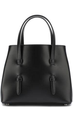 Кожаная сумка на цепочке Alaia. Цвет: черный