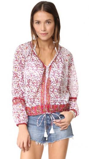 Блуза Bibi Poupette St Barth. Цвет: розовый