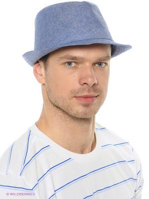 Шляпа Oodji. Цвет: голубой