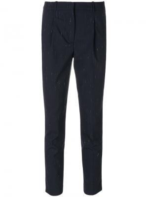 Укороченные брюки Painting Jil Sander Navy. Цвет: синий