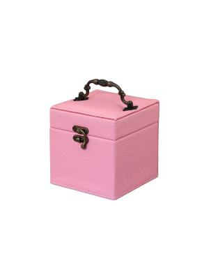Шкатулка Розовые соты Elan Gallery. Цвет: розовый