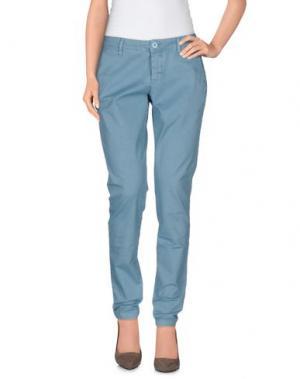 Повседневные брюки DERRIÉRE. Цвет: пастельно-синий