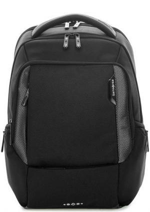 Черный текстильный рюкзак с тремя отделами Samsonite. Цвет: черный