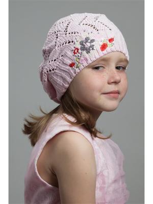 Берет NELL. Цвет: бледно-розовый