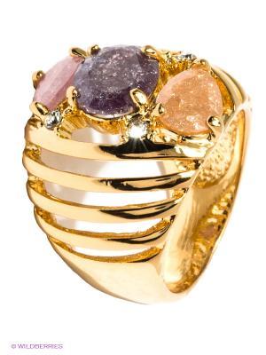 Кольцо Bijoux Land. Цвет: золотистый, розовый