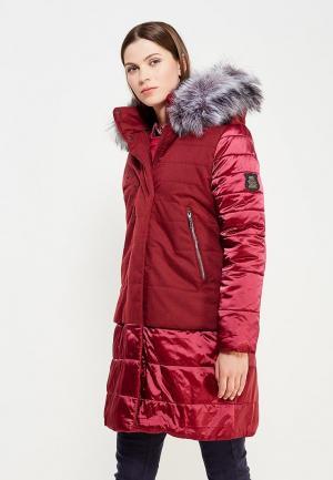 Куртка утепленная Alpex. Цвет: бордовый