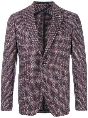 Тканый классический пиджак Tagliatore. Цвет: многоцветный