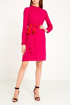 Красно-розовое платье Gucci. Цвет: розовый