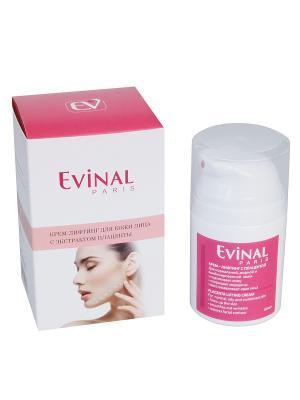 Крем-лифтинг для кожи лица с экстрактом плаценты EVINAL. Цвет: молочный