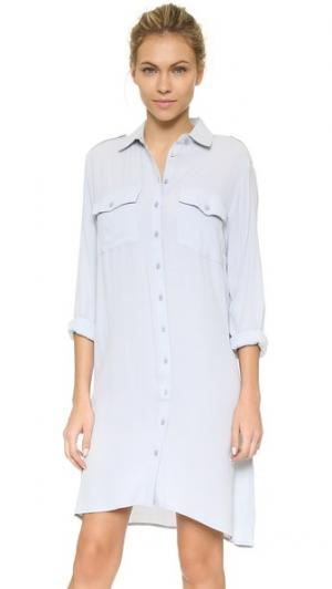 Платье-рубашка ST Olcay Gulsen. Цвет: серый