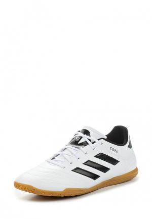 Бутсы зальные adidas. Цвет: белый