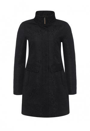 Пальто oodji. Цвет: черный