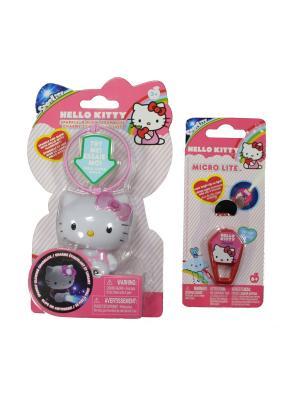 Набор Hello Kitty: Игрушка-фонарик в форме любимого героя + Микрофонарик Kitty. Цвет: розовый, белый