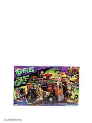 Машинка Боевой фургон Черепашек Ниндзя Playmates toys. Цвет: коричневый, черный, зеленый, темно-коричневый