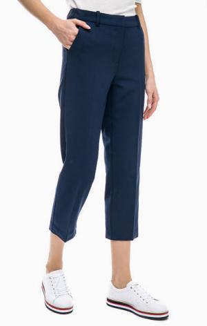 Синие трикотажные капри с карманами Tommy Jeans. Цвет: синий