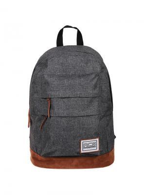 Рюкзак Sport Basic 45*30*18см, 1 отделение, 2 кармана, уплотненная спинка Berlingo. Цвет: серый, коричневый