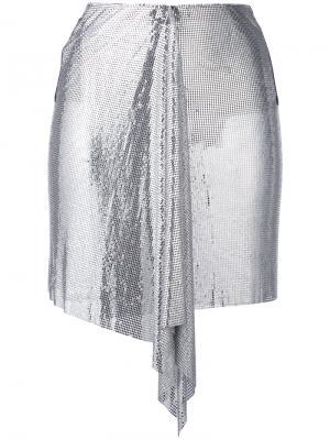 Драпированная мини-юбка Versus. Цвет: чёрный