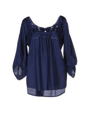 Блузка NOLITA. Цвет: темно-синий