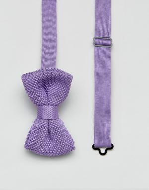 7X Вязаный галстук-бабочка. Цвет: фиолетовый