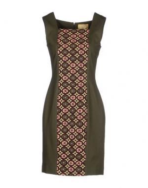Короткое платье EAN 13. Цвет: зеленый-милитари